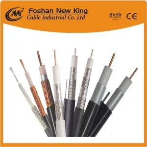 Ce / RoHS / CPR Certificación Cobre desnudo Quad Shield PE Espuma Bc Cable coaxial China Manufaturer RG6