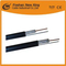China Factory RG6 Antena Cable Nuevo PVC con Steel Messenger para CCTV CATV Satellite System