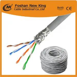 Cable LAN interior de cobre FTP / UTP Cat5e o cable de red 4X2X0.5mm BC Pass Fluke Tia Test