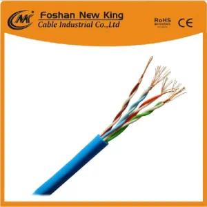 305 m / caja CAT6 UTP FTP Cable de red Cable LAN 0.58 mm a. C. con funda de PVC gris Fluck Pass