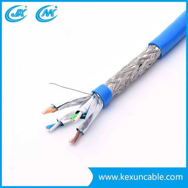 4X2X24AWG CCA / Bc UTP FTP SFTP Cat5e Cable de red Ethernet Cable LAN Cable de conexión