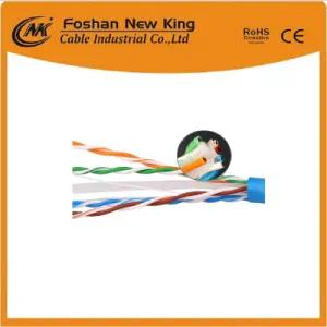 UTP FTP Cable Cat5e Cable de red Cable LAN con conductor de cobre Chaqueta de PVC 305m / Box